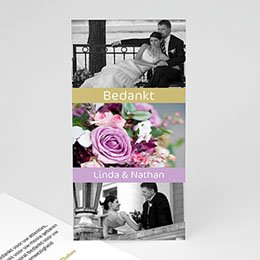 Bedankkaartjes huwelijk - Ovatie - 1