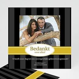 Bedankkaartjes huwelijk - Oldtimer stijl, geel - 1