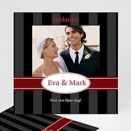 Bedankkaartjes huwelijk - Oldtimer stijl - 1