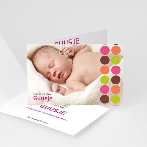 Geboortekaartje meisje - Retro smarties 10264 thumb