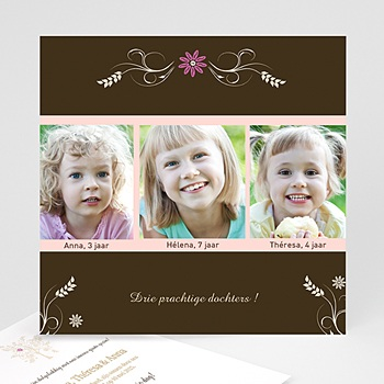Adoptiekaarten voor meisjes - Met z'n drieën - 1