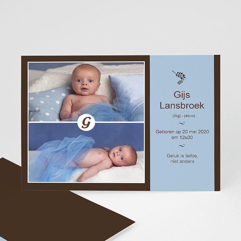 Geboortekaartje jongen - Een dubbel gezicht 10272 thumb