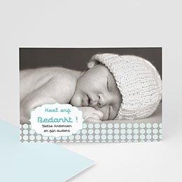 Bedankkaartjes Geboorte Zacht grijs blauw
