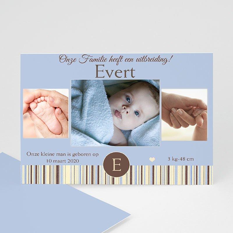 Geboortekaartjes Jongen Blauwe barcode