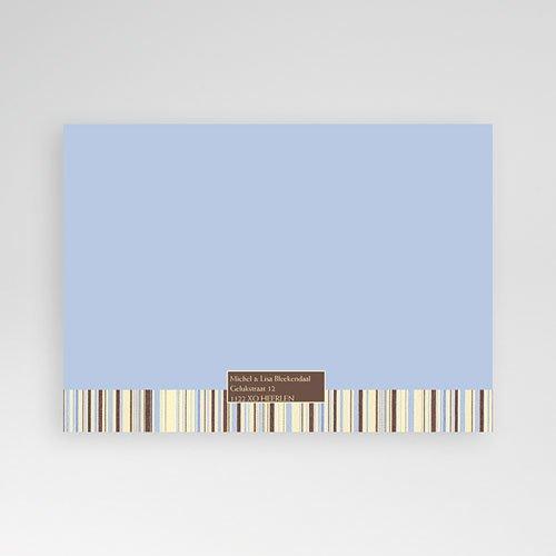Geboortekaartje jongen - Blauwe barcode 10279 thumb