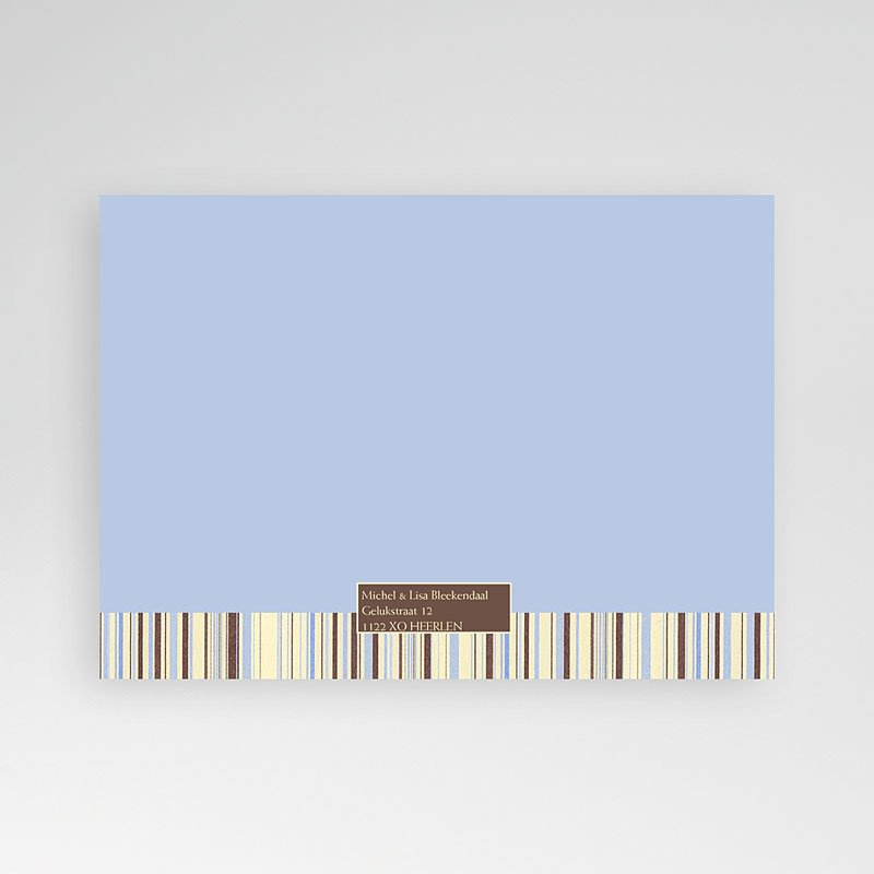 Geboortekaartjes Jongen Blauwe barcode pas cher