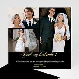 Bedankkaartjes huwelijk - Strak in het zwart - 1