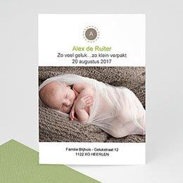 Aankondiging Geboorte cocoon baby