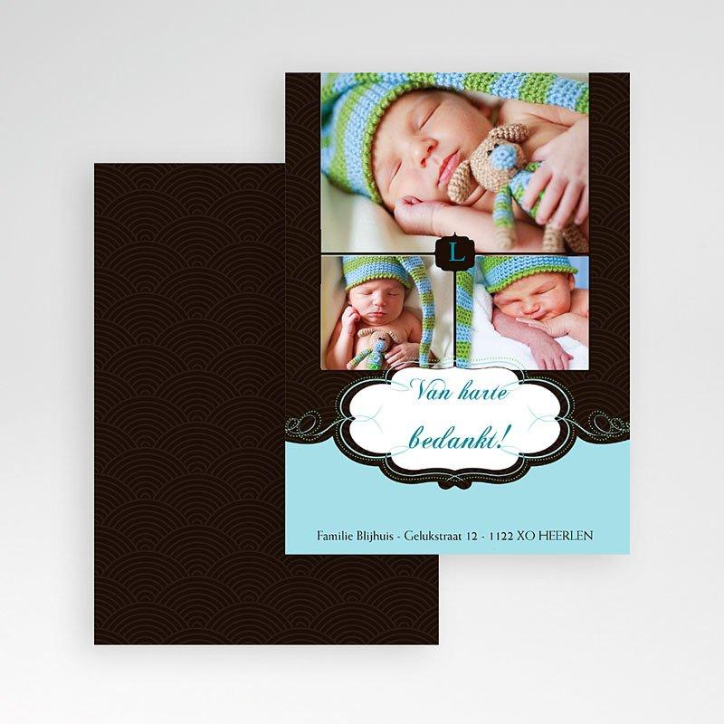 Bedankkaartje geboorte zoon - Onze bonbon, zoon 10301 thumb