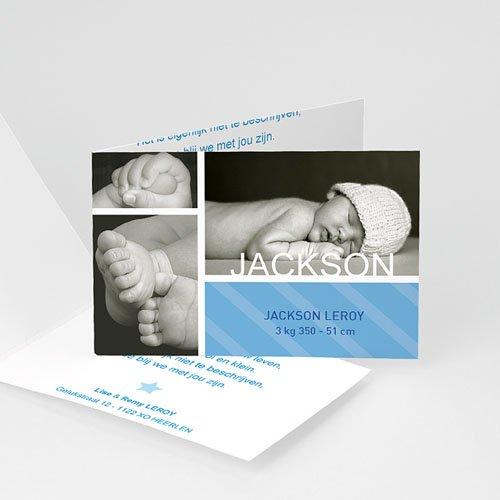 Geboortekaartje jongen - Hemelblauwe stralen 10304 thumb
