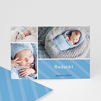 Bedankkaartje geboorte zoon - Hemelblauwe stralen - 1