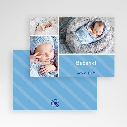 Bedankkaartje geboorte zoon Hemelblauwe stralen pas cher