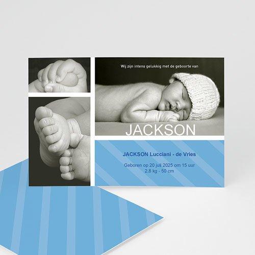 Geboortekaartje jongen - Hemelblauwe stralen 10308 thumb