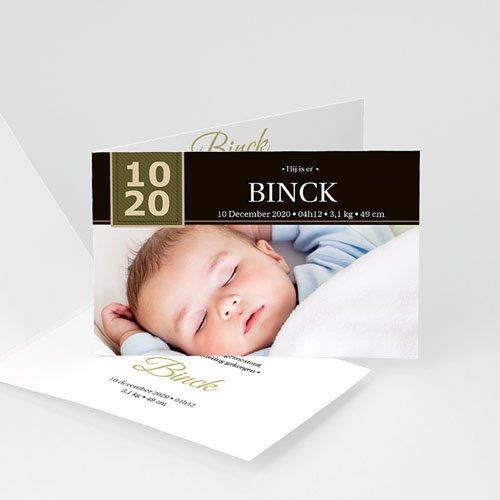 Geboortekaartje jongen - Sober door eenvoud 10312 thumb