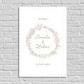 Welkomstbord Bruiloft Gouden krans, Welkom Poster