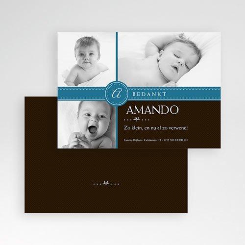 Bedankkaartje geboorte zoon - Jongetje om in te pakken 10323 thumb