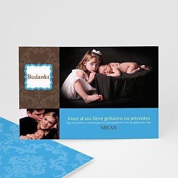 Bedankkaartje geboorte zoon - born 2 design - 1