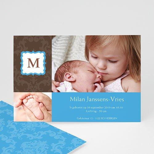 Geboortekaartje jongen - born 2 design 10328 thumb