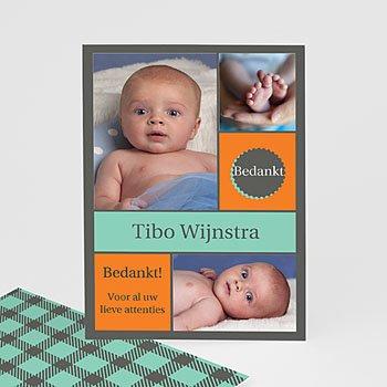 Bedankkaartje geboorte zoon - voor hem en haar - 1