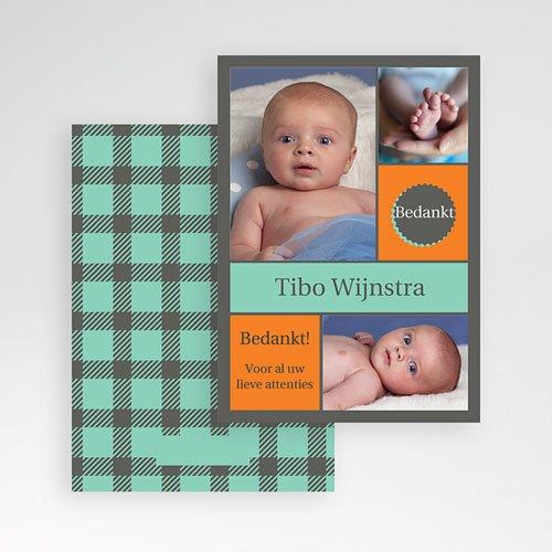 Bedankkaartje geboorte zoon - voor hem en haar 10331 thumb