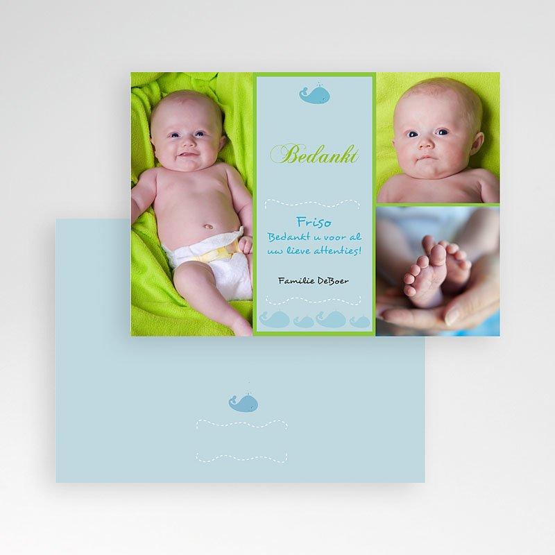Bedankkaartje geboorte zoon - Lente-oogst, blauw 10337 thumb