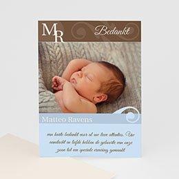 Bedankkaartje geboorte zoon Zoon geboren in stijl