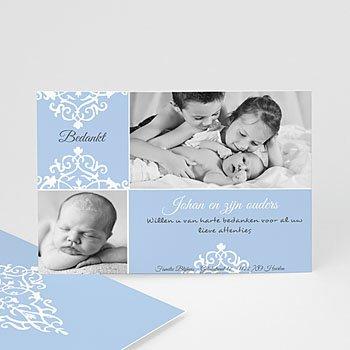 Bedankkaartje geboorte zoon - Nieuwe kasteelheer - 1