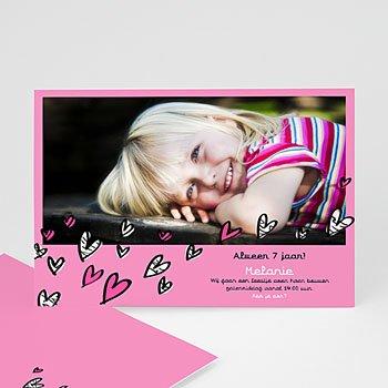Verjaardagskaarten meisjes - Lieve uitnodiging meisje - 1