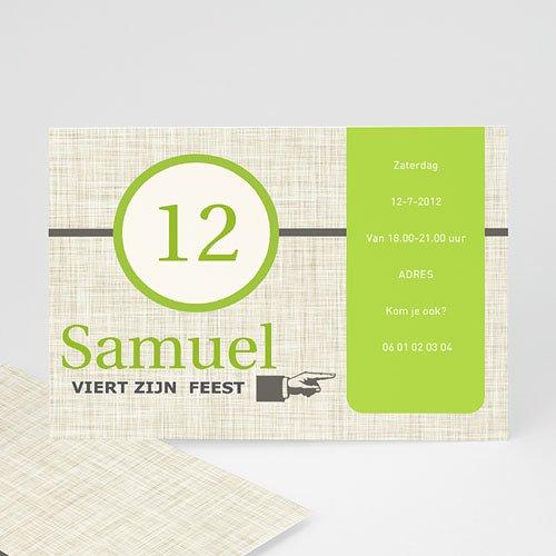 Verjaardagskaarten jongens - Groen papyrus 10366 thumb