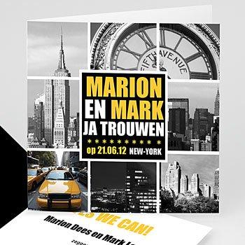 Trouwkaarten reizen - NY Style - 1