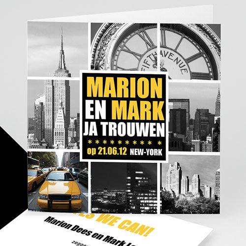Trouwkaarten reizen New York trouwkaart