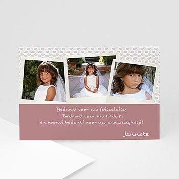 Bedankkaart communie meisje - Communie à la carte - 1