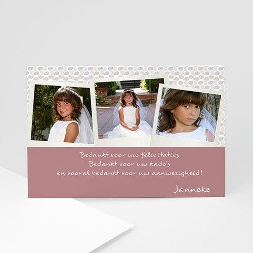 Bedankkaart communie meisje - Communie à la carte 10374 thumb