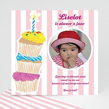 Verjaardagskaarten meisjes - Stapel taartjes voor meisjes - 1