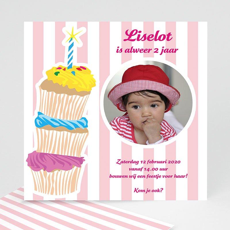 Verjaardagskaarten meisjes - Stapel taartjes voor meisjes 10382 thumb