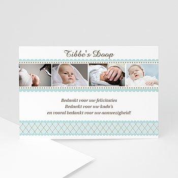 Bedankkaart doopviering jongen - Amulet - 1