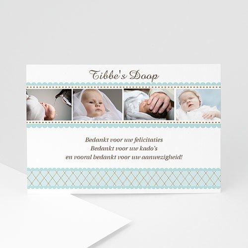 Bedankkaart doopviering jongen - Amulet 10386 thumb