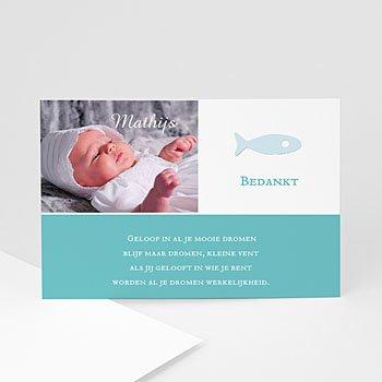 Bedankkaart doopviering jongen - Christelijk visje - 1