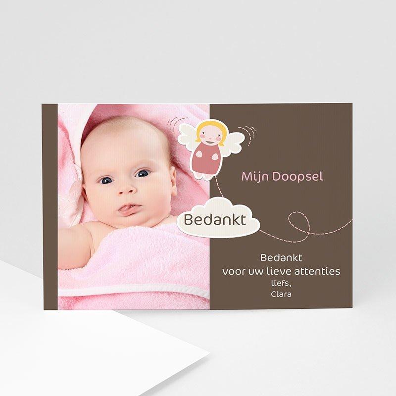 Bedankkaart doopviering jongen - Doopsel meisje 10392 thumb