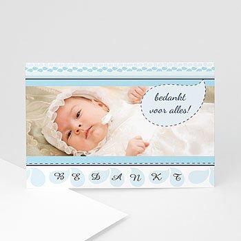 Bedankkaart doopviering jongen - Hemels blauw - 1