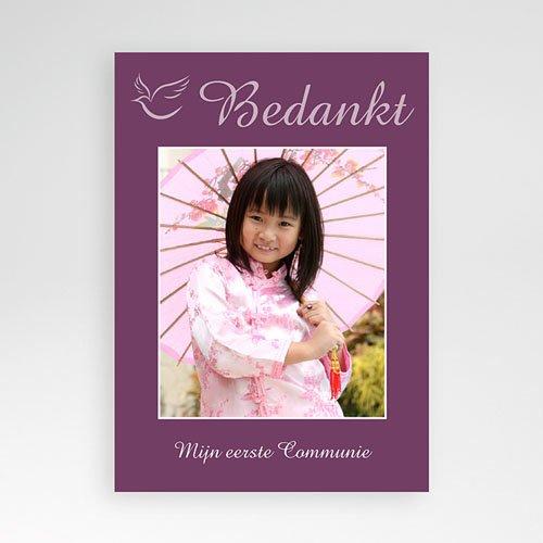Bedankkaart communie meisje - Om met jullie te delen 10396 thumb