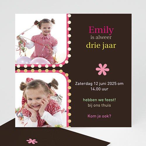 Uitnodigingen Verjaardag Meisje Uitgeknipt mooi
