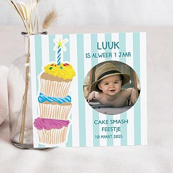 Verjaardagskaarten jongens - Stapel taartjes voor jongens - 1