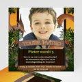 Verjaardagskaarten jongens - Dinosaurus uitnodiging 10410 thumb
