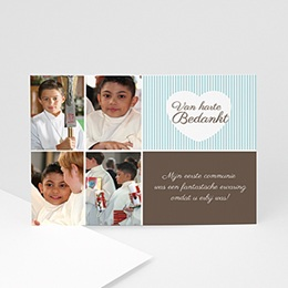 Bedankkaart communie jongen Communie design