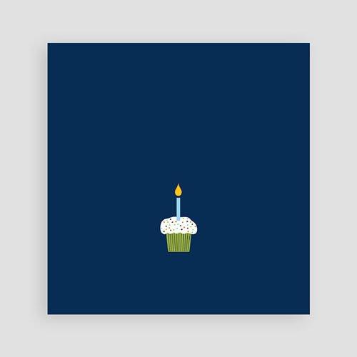 Uitnodigingen Verjaardag Jongen Kaarsje met 2, blauw pas cher