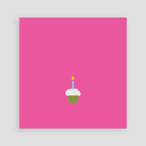 Uitnodigingen Verjaardag Meisje Kaarsje met 2 pas cher