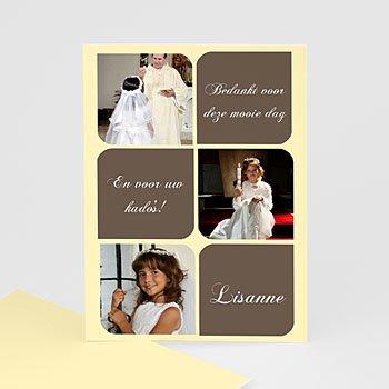 Bedankkaart communie meisje - Foto's en symbolen - 1