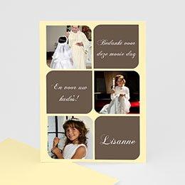 Bedankkaart communie meisje Foto's en symbolen