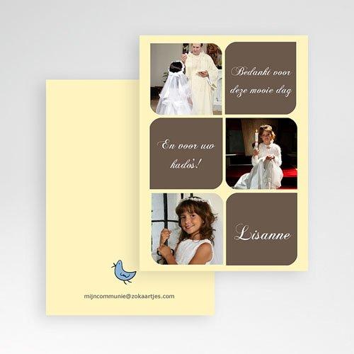 Bedankkaart communie meisje Foto's en symbolen pas cher